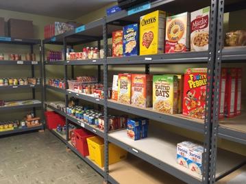 shelf at food shelf