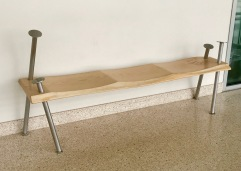 Sculptural Bench found on the first floor of the Liberal Arts Building
